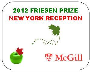 New York Reception - 2012 Friesen Prize